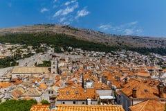 Panorama di Città Vecchia di Ragusa, Croazia immagini stock