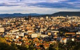 Panorama di Clermont-Ferrand Fotografia Stock Libera da Diritti