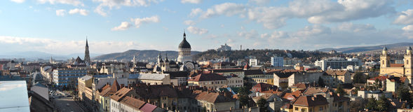 Panorama di Cluj 1 Fotografie Stock