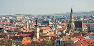 Panorama di Cluj-Napoca fotografia stock libera da diritti