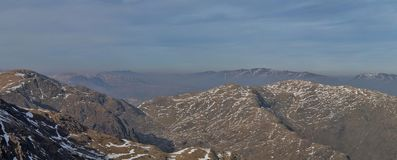 Panorama di Coniston Fotografia Stock
