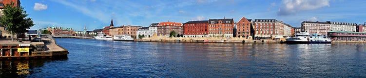 Panorama di Copenhaghen Fotografie Stock Libere da Diritti