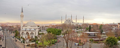 Panorama di Costantinopoli Fotografia Stock Libera da Diritti