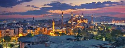 Panorama di Costantinopoli Fotografie Stock Libere da Diritti