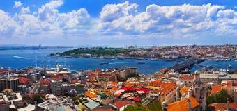 Panorama di Costantinopoli Turchia Immagini Stock Libere da Diritti