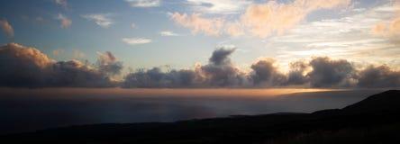 Panorama di crepuscolo Fotografie Stock