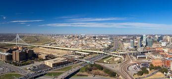 Panorama di Dallas Fotografia Stock Libera da Diritti