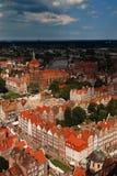 Panorama di Danzica Fotografie Stock