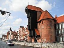 Panorama di Danzica Città Vecchia, Polonia Fotografia Stock