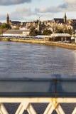 Panorama di Derry dal ponte di Craigavon Fotografie Stock Libere da Diritti