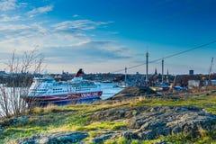 Panorama di Djurgarden da Fåfängan Immagine Stock