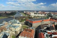 Panorama di Dresda fotografie stock