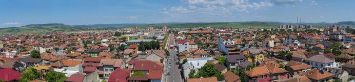 Panorama di Drobeta Turnu Severin da sopra Fotografia Stock Libera da Diritti