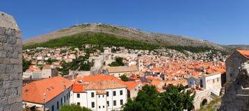 Panorama di Dubrovnik fotografie stock
