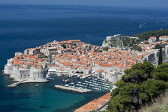 Panorama di Dubrovnik fotografia stock libera da diritti