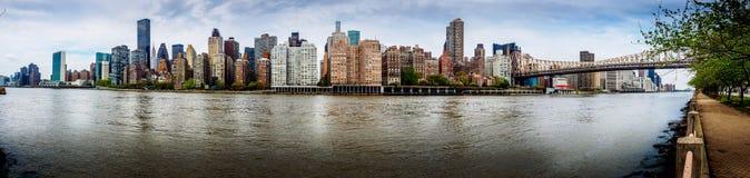 Panorama di East River Fotografie Stock