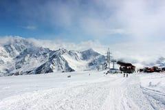Panorama di Elbrus Fotografia Stock