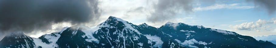 Panorama di estate delle alpi Fotografia Stock Libera da Diritti