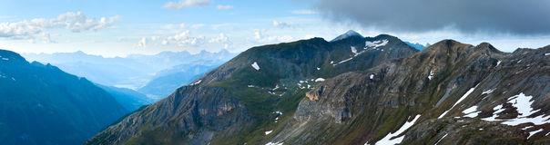 Panorama di estate delle alpi (Austria). Immagine Stock