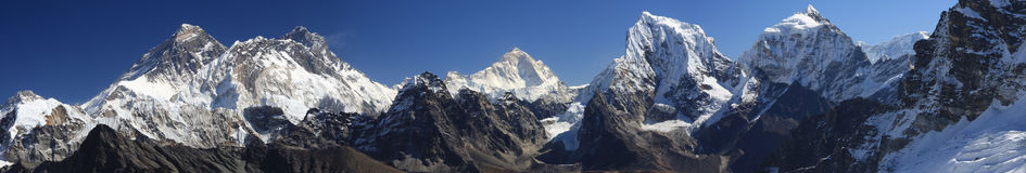 Panorama di Everest Immagine Stock