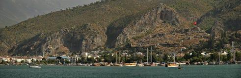 Panorama di Fethiye (Thelmessos antico) Fotografie Stock Libere da Diritti