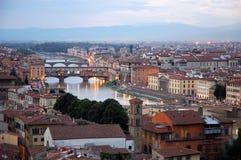Panorama di Firenze Fotografie Stock