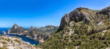 Panorama di Formentor del capo, Maiorca Fotografia Stock Libera da Diritti