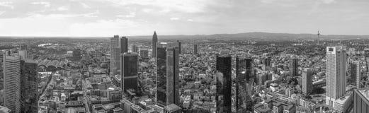 Panorama di Francoforte sul Meno fotografia stock