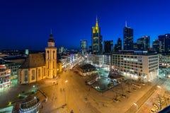Panorama di Francoforte sul Meno fotografie stock libere da diritti