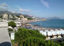 Panorama di Genova fotografia stock