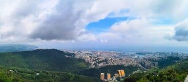 Panorama di Genova, Italia fotografia stock