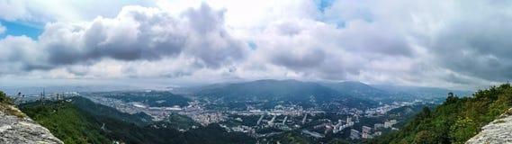 Panorama di Genova, Italia immagini stock libere da diritti