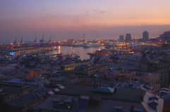 Panorama di Genova immagini stock
