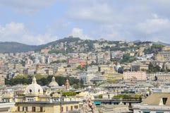Panorama di Genova, vista da porta immagini stock libere da diritti