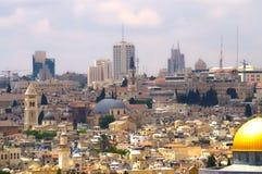 Panorama di Gerusalemme 4 Immagini Stock