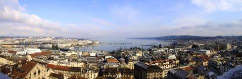 Panorama di Ginevra Immagine Stock Libera da Diritti