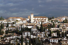 Panorama di Granada Spagna Fotografie Stock Libere da Diritti