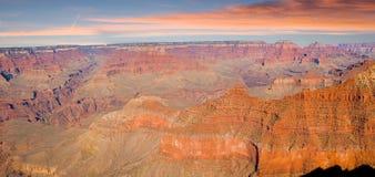 Panorama di grande canyon Immagini Stock Libere da Diritti