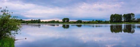 Panorama di grande riserva naturale delle acque Fotografia Stock