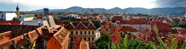 Panorama di Graz Immagine Stock Libera da Diritti