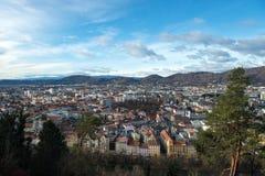 Panorama di Graz Fotografia Stock Libera da Diritti