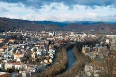 Panorama di Graz Fotografia Stock