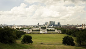 Panorama di Greenwich Fotografia Stock Libera da Diritti