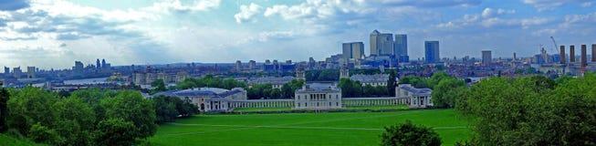 Panorama di Greenwich fotografia stock