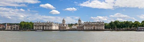 Panorama di Greenwich Fotografie Stock Libere da Diritti