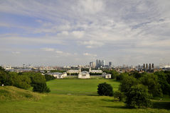 Panorama di Greenwitch Fotografie Stock