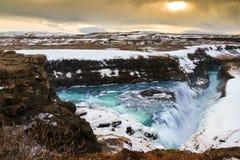 Panorama di Gullfoss immagini stock