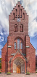 Panorama di Hassleholm Kyrka immagini stock libere da diritti