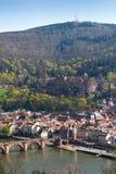 Panorama di Heidelberg Immagine Stock