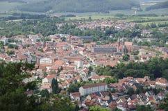 Panorama di Heilbad Heiligenstadt Fotografia Stock Libera da Diritti